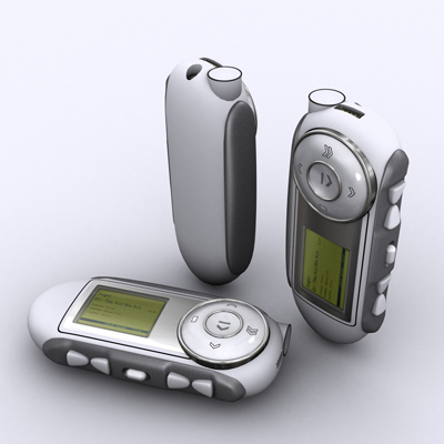 illustration of Concept for Mp3 player.
