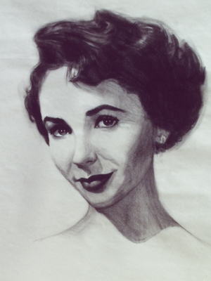 illustration of Charcoal on paper