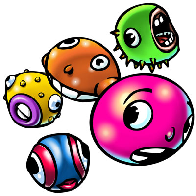 illustration of Bubble Heads