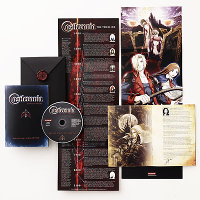 illustration of Package design for Castlevania 20th Anniversary Retail Gift-with-Purchase Promotion, 