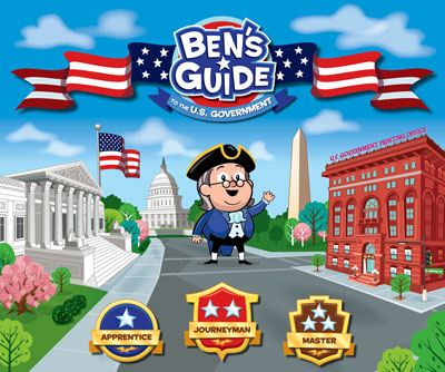 illustration of Hope page for educational game site – Ben's Guide to the U.S. Government