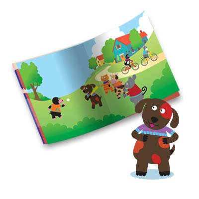 illustration of 2D, Illustration, Character Development, Animals, Activities/Crafts, Interactive, Boys, Girls, Early Childhood, School Age