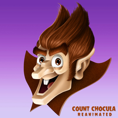 illustration of An exercise I did to update the Count Chocula character.