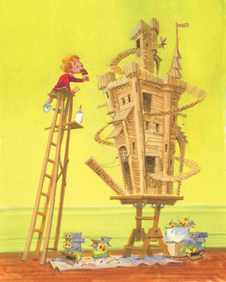 illustration of 2D, Illustration, Animals, Architecture, Humorous, Sci-Fi / Fantasy, Boys, Early Childhood, School Age, Tweens