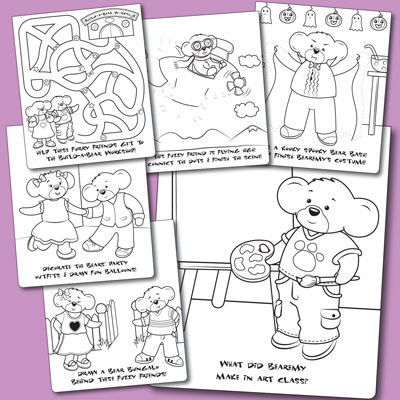 illustration of Build-A-Bear license illustration and activity design