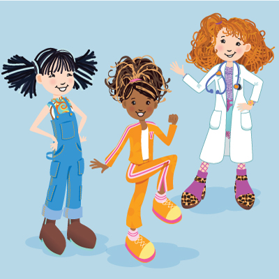 illustration of Licensed character illustrations for Scholastic's Groovy Girls magazine