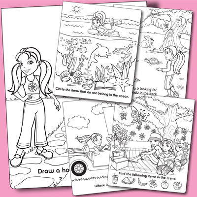 illustration of Polly Pocket license illustration and activity design