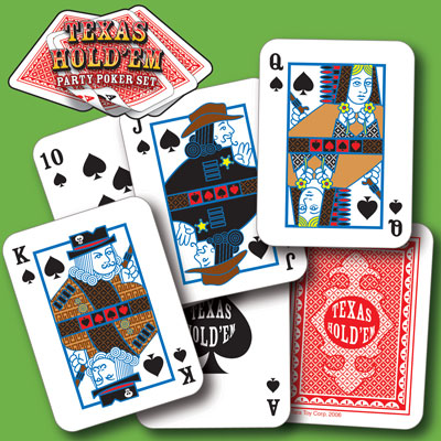 illustration of Texas Hold'em card game design (party favor pack), illustrations, pattern, logo design