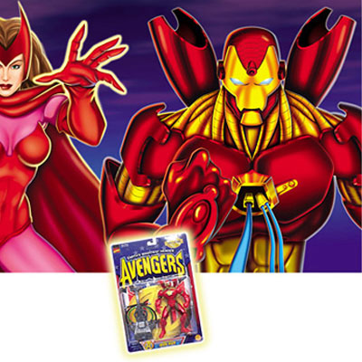 illustration of Avengers illustrations for toy packaging