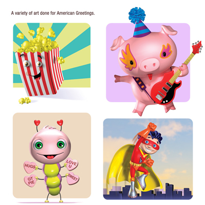 illustration of Illustrations used for greeting cards