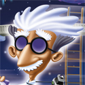 illustration of Professor Fizzwizzle video game package cover