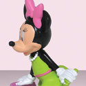 illustration of Figurine of Minnie Mouse shopping.