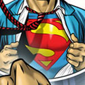 illustration of Custom illustration making client into Superman