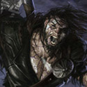 illustration of The Planeswalker Garruk is cursed by Liliana Vess.