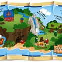 illustration of Illustrated map for Veggie Tales'