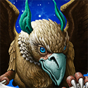 illustration of The gryphon upon which is based my design for the Andre Norton Award.