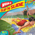 "illustration of ""Slip 'N Slide"" brand identity and package design system redesign for Wham-O."