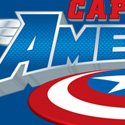 "illustration of ""Captain America"" logo design for Marvel Entertainment, Inc."