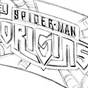 "illustration of ""Spider-Man Origins"" structure and package design system for Hasbro, Inc."