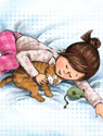 illustration of Animals, Girls, Early Childhood, School Age, Tweens