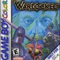 illustration of Cover art for Warlocked, a Gameboy Color real-time strategy game, that tries to bring the gamestyle of PC games like Warcraft and Command and Conqueor to Gameboy Color