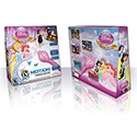 illustration of Package design with product illustration and Disney licensed characters