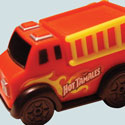 illustration of Hot Tamales party favor fire truck concept, design and packaging