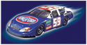 illustration of Full color  art for Kingsford Nascar race car charcoal lighter can front panel. This can be found on any supermarket shelf.