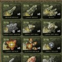 illustration of  Pulp Studios Inc. created a wide variety of icons to represent weapons the user would equip during gameplay.